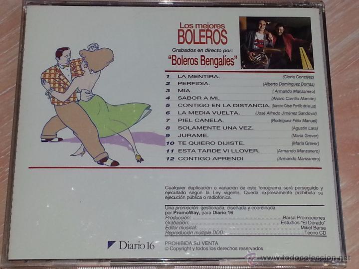 CDs de Música: BOLEROS BENGALÍES - LOS MEJORES BOLEROS - 1993 - DIARIO 16 - PROMOWAY - CD ALBUM - Foto 3 - 53047582