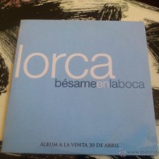 CDs de Música: LORCA - BÉSAME EN LA BOCA - CD SINGLE - PROMO - LIDERES - 2001. Lote 53064732