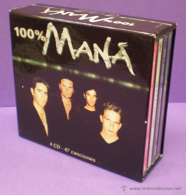 100% MANÁ - 4 CDS BOX SET (Música - CD's Rock)