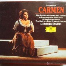CDs de Música: GEORGES BIZET. CARMEN. LEONARD BERNSTEIN. DEUSTSCHE GRAMMOPHON.. Lote 53140454