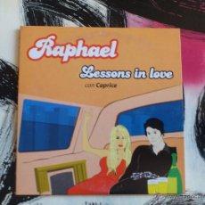 CDs de Música: RAPHAEL - CAPRICE - LESSONS IN LOVE - CD SINGLE - PROMO - EMI - 2001. Lote 53172292
