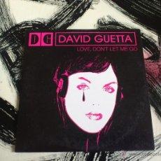 CDs de Música: DAVID GUETTA - LOVE, DON´T LET ME GO - CD SINGLE - PROMO - 2 TRACKS - VIRGIN - 2002. Lote 53244825