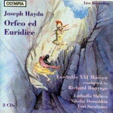 CDs de Música: DOBLE CD ÁLBUM: JOSEPH HAYDN - ORFEO ED EURIDICE - DIRIGE: RICHARD BONYNGE - OLYMPIA DISCS 1996. Lote 53270984