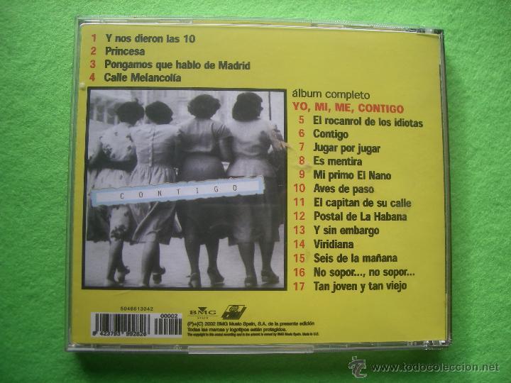 CDs de Música: JOAQUIN SABINA LO MEJOR DE LOS MEJORES / YO ,MI,ME , CONTIGO + 4 SUPER EXITOS CD ALBUM +BONUS PEPETO - Foto 2 - 69641150