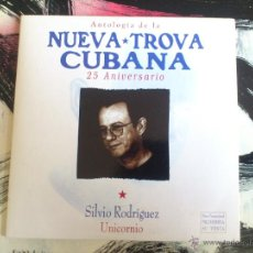 CDs de Música: NUEVA TROVA CUBANA - SILVIO RODRIGUEZ - UNICORNIO - CD SINGLE - PROMO - CRIN - 1998. Lote 53346681