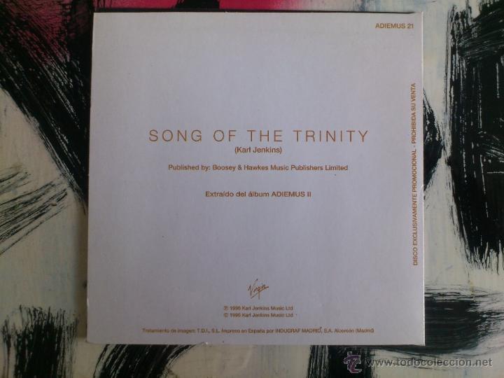 CDs de Música: ADIEMUS II - SONG OF THE TRINITY - CD SINGLE - VIRGIN - KARL JENKINS - 1996 - Foto 2 - 53450783