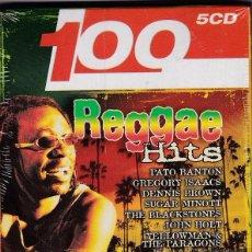 CDs de Música: 100 REGGAE HITS - 5 CDS BOX SET - PRECINTADO. Lote 53461397