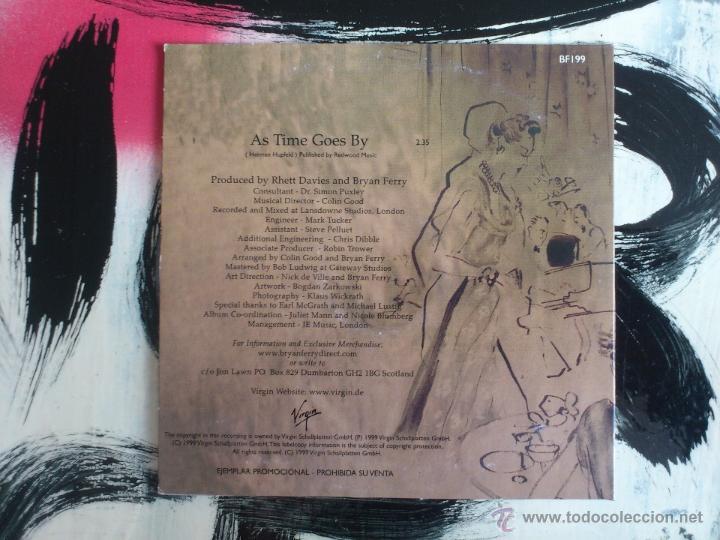 CDs de Música: BRYAN FERRY - AS TIME GOES BY - CD SINGLE - PROMO - VIRGIN - 1999 - Foto 2 - 53468243