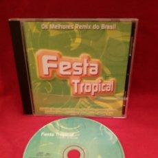 CDs de Música: FESTA TROPICAL - OS MELHORES REMIX DO BRASIL / CD #1035. Lote 53501514