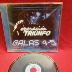 CDs de Música: OPERACION TRIUNFO - GALAS 4-5 / CD #1056. Lote 53517193