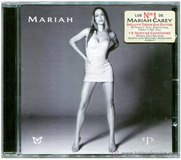 MARIAH CAREY – #1'S - CD EUROPE 1998 - COLUMBIA COL 492604 2 (Música - CD's Hip hop)