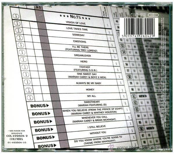 CDs de Música: Mariah Carey – #1's - CD Europe 1998 - Columbia COL 492604 2 - Foto 2 - 53525608