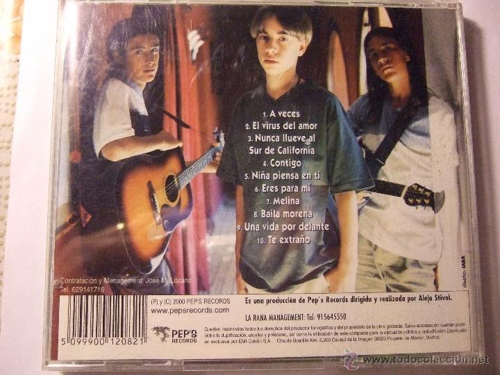 CDs de Música: CD LOS CAÑOS - PEPS RECORDS 2000 - 10 TEMAS - Foto 2 - 53556234