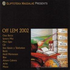 CDs de Música: OFF LEM 2002. SIMÓN Y TELEFUNKEN, HEIDI MORTENSON… GM 2002. Lote 139834446