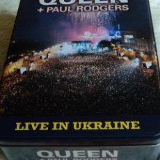 CDs de Música: QUEEN + PAUL RODGERS - LIVE IN UKRAINE - EDICIÓN 2009 E.U. - CAJA METÁLICA 2 CD'S + 1 DVD Y CAMISETA. Lote 53691617