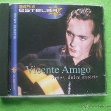 CDs de Música: CD ALBUM SERIE ESTELAR - VICENTE AMIGO - AMOR DULCE MUERTE NUEVO ¡¡ PEPETO. Lote 53770346