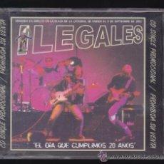 CDs de Música: ILEGALES -CD SINGLE PROMO- EL DIA QUE CUMPLIMOS 20 AÑOS. LA FIESTA/QUIERO SER MILLONARIO/HACER MUCHO. Lote 172790794