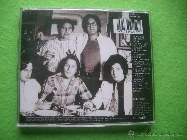 CDs de Música: BILLY JOEL - The Stranger - Cd ALBUM PEPETO - Foto 2 - 53790568
