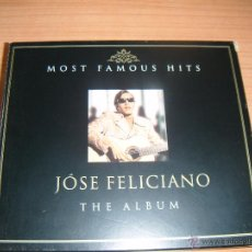 JOSE FELICIANO MOST FAMOUS HITS THE ALBUM 2002, SET QUE CONTIENE DOS CDs