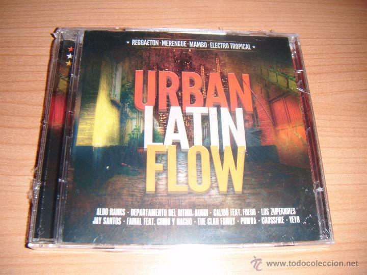 URBAN LATIN FLOW, RAGGAETON, MERENGUE, MAMBO, ELECTRO TROPICAL, DOBLE CD (Música - CD's Latina)