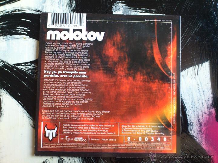 CDs de Música: MOLOTOV - HEY YA, YA TRANQUILO MAN PARASITO ... - CD SINGLE - PROMO - SPAIN - UNIVERSAL - 1999 - Foto 2 - 53996166