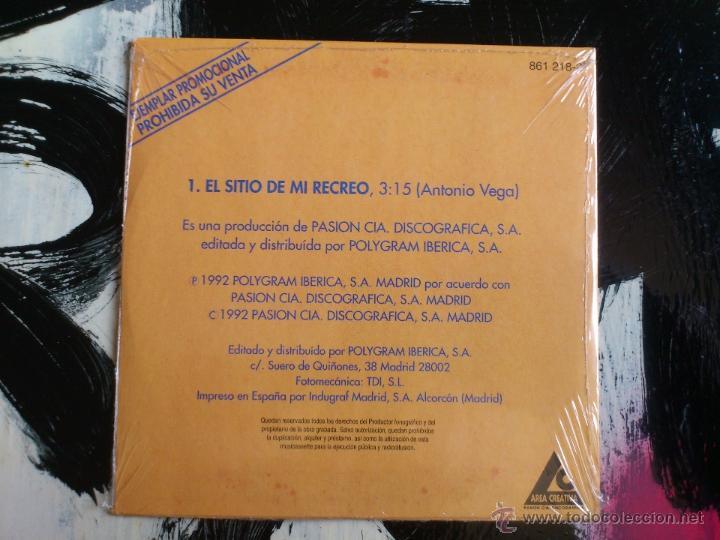 CDs de Música: ANTONIO VEGA - EL SITIO DE MI RECREO - CD SINGLE - PROMO - POLYGRAM - PASION CIA - 1992 - NACHA POP - Foto 2 - 54001784