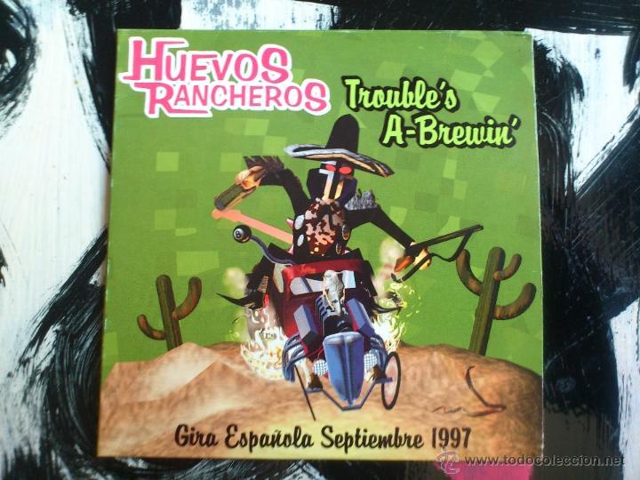 HUEVOS RANCHEROS - TROUBLE´S A-BREWIN´ - CD SINGLE - PROMO - 4 TRACKS - LOUI RECORDS - 1997 (Música - CD's Rock)