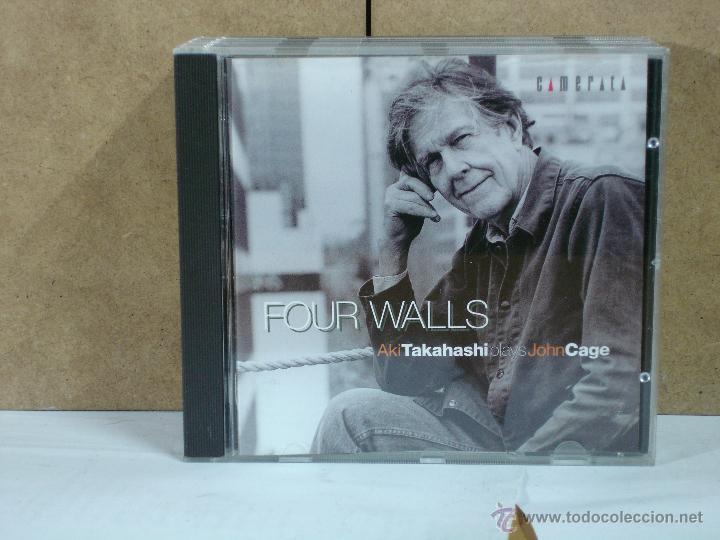 JOHN CAGE - FOUR WALLS. AKI TAKAHASHI PLAYS JOHN CAGE - CAMERATA CM-28027 - 2004 (Música - CD's New age)