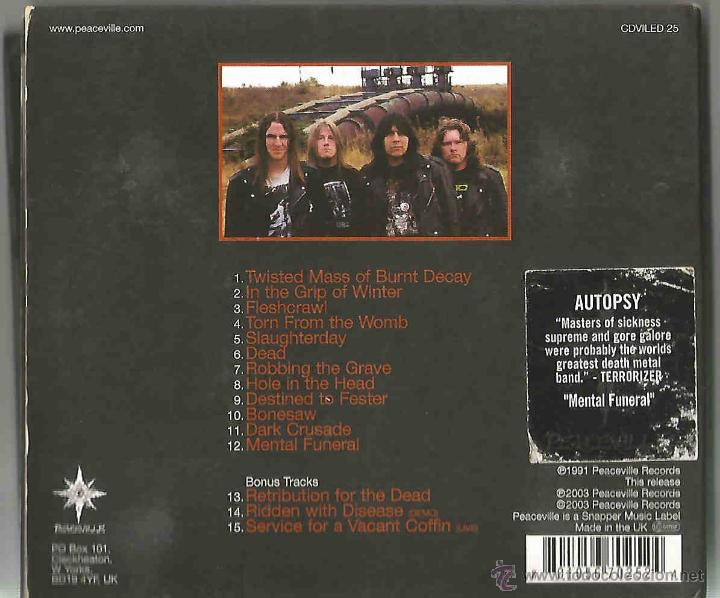 Autopsy  mental funeral  death metal  1991 - Sold through Direct