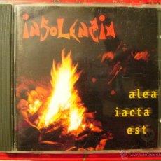 CDs de Música: INSOLENZIA.ALEA IACTA EST..DEBUT..ROCK ARAGON. Lote 54016135