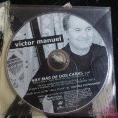 CDs de Música: VÍCTOR MANUEL - HAY MÁS DE DOS CARAS - CD SINGLE - PROMO - BMG - 2001. Lote 54033311