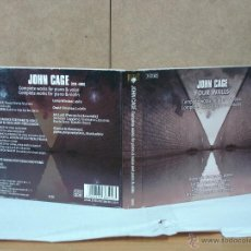 CDs de Música: JOHN CAGE - FOUR WALLS. COMPLETE WORKS FOR PIANO AND VOICE / FOR PIANO AND VIOLIN - 2007 - 3XCD. Lote 54042984