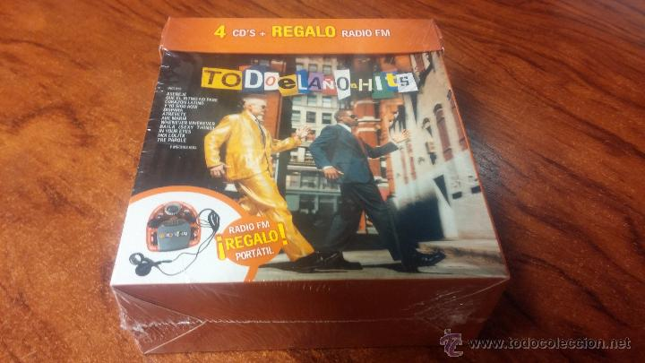 TODO EL AÑO HITS 4 CD'S BOX SET CON RADIO PORTATIL (Música - CD's Latina)