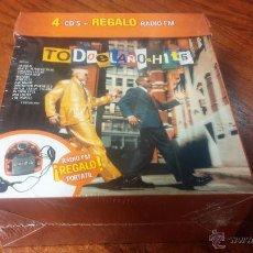 CDs de Música: TODO EL AÑO HITS 4 CD'S BOX SET CON RADIO PORTATIL. Lote 54127923