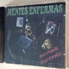 CDs de Música: MENTES ENFERMAS CD 100% PUNK ENFERMO. Lote 54134837