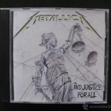 CDs de Música: METALLICA - AND JUSTICE FOR ALL. Lote 54144937