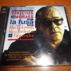 CDs de Música: VINICIUS DE MORAES EN LA FUSA CON MARIA GREUZA MARIA METHANIA TOQUINHO DOBLE CD 1996 27 TEMAS 2 CD. Lote 54147052