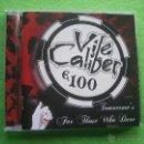 CDs de Música: VILE CALIBER E 100 TOMORROW`S FOR THOSE WHO DARE CD ALBUM DEBUT HEAVY VER VIDEO 2015. Lote 54273586