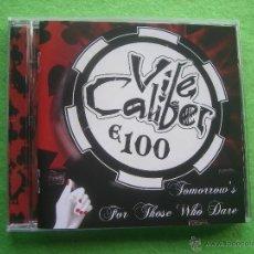 CDs de Música: VILE CALIBER E 100 TOMORROW`S FOR THOSE WHO DARE CD ALBUM DEBUT HEAVY VER VIDEO 2015 PEPETO. Lote 54273586