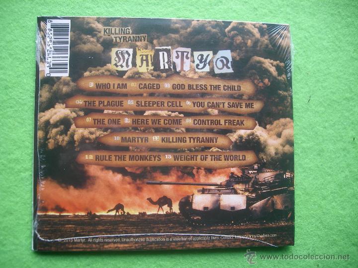 CDs de Música: KILLING TYRANNY MARTYR CD ALBUM CARTON 2015 PRECINTADO HEAVY VER VIDEO PEPETO - Foto 2 - 54293478