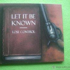 CDs de Música: LET IT BE KNOWN LOSE CONTROL CD ALBUM HEAVY VER VIDEO . Lote 54328307