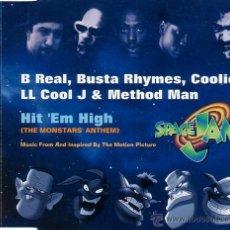 CDs de Música: B REAL, BUSTA RHYMES, COOLIO, LL COOL J & METHOD MAN - HIT 'EM HIGH (THE MONSTARS' ANTHEM) (CD, MAX. Lote 88349822