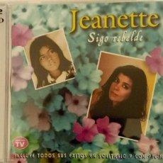 CDs de Música: DOBLE CD SIGO REBELDE DE JEANETTE. Lote 54390857