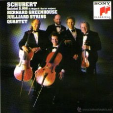 CDs de Música: SCHUBERT - BERNARD GREENHOUSE & JUILLIARD STRING QUARTET - CD ALBUM - SONY CLASSICAL 1988.. Lote 112202147