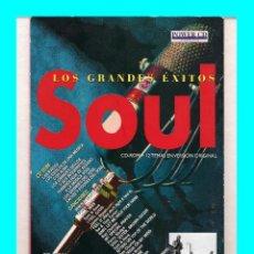 CDs de Música: LOS GRANDES ÉXITOS DEL SOUL MÁS DE 100 FOTOGRAFÍAS 10 MINUTOS DE VIDEO 12 TEMAS ORIGINALES - PROBADO. Lote 54479888