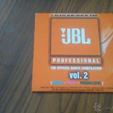 CDs de Música: JBL. PROFESSIONAL. THE DANCE COMPILATION. VOL. 2. DANCE, HOUSE, PROGRESSIVE. CD PROMO CARTÓN. RARO. Lote 54492358