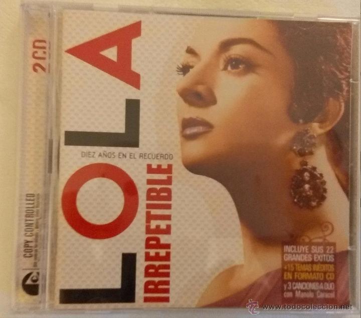DOBLE CD IRREPETIBLE DIEZ ANOS EN EL RECUERDO DE LOLA FLORES segunda mano