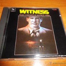 CDs de Música: WITNESS UNICO TESTIGO BANDA SONORA ORIGINAL CD ALBUM 1985 MUSICA MAURICE JARRE VARESE SARABANDE. Lote 54496208