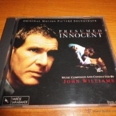 CDs de Música: PRESUMED INNOCENT PRESUNTO INOCENTE BANDA SONORA CD ALBUM 1980 VARESE SARABANDE JOHN WILLIAMS. Lote 54497270