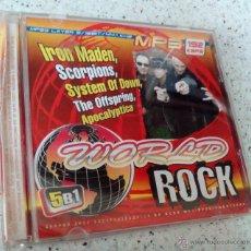 CDs de Música: DISCO MP3 WORLD ROCK. IRON MADEN, SCORPIONS, APOCALYPTICA, THE OFFSPRING, SYSTEM OF DOWN. 108 TEMAS.. Lote 54511257
